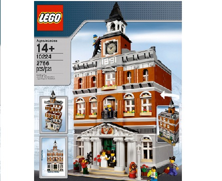 town hall lego 10224 instructions