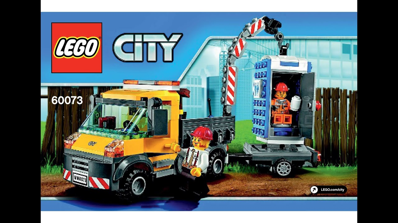 lego city truck and forklift instructions