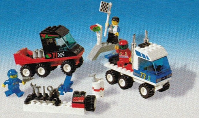 lego racers truck with trailer instructions