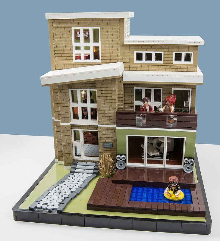 easy lego instructions for a house