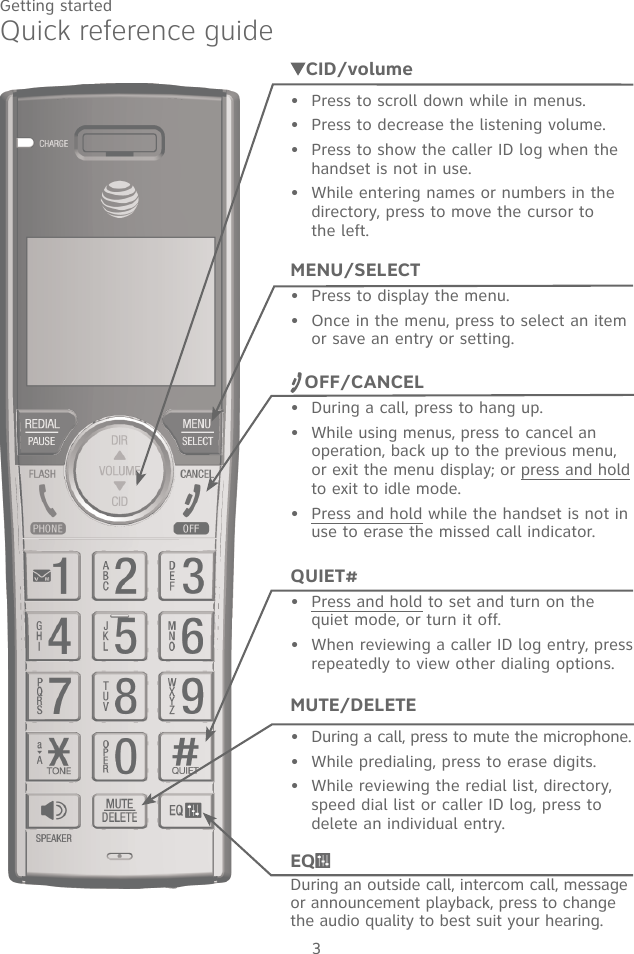 vtech cordless answering machine instructions