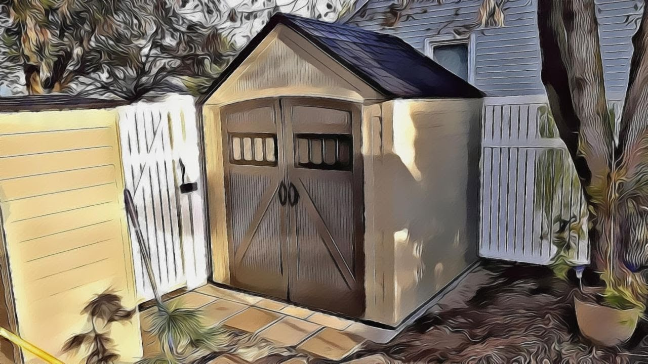 keter 8x8 plastic shed instructions