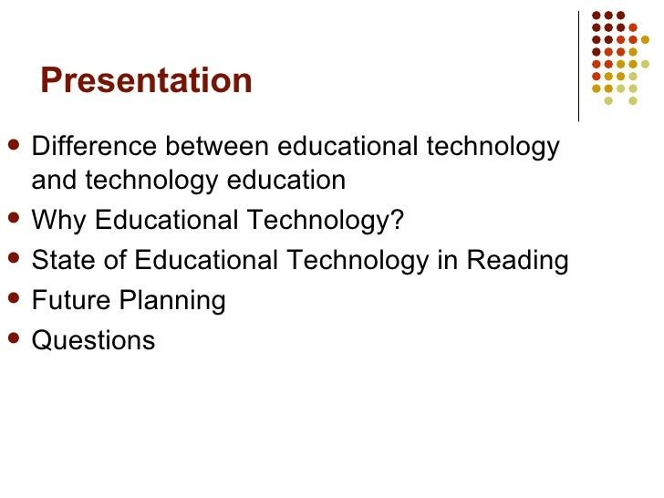 difference between educational technology and instructional technology ppt