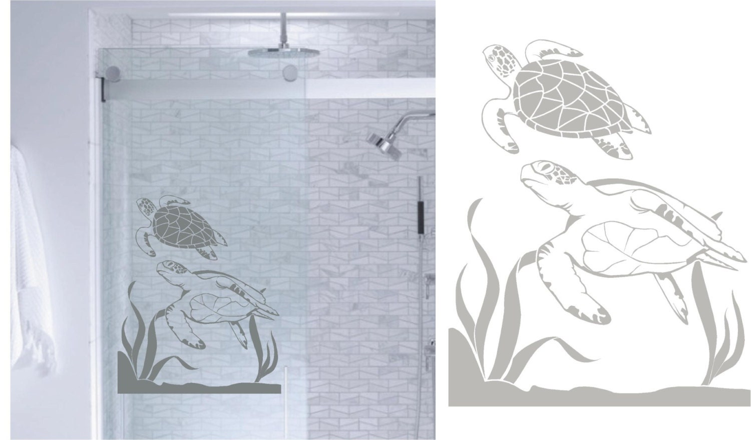 instructions to apply vinyl decal to shower glass