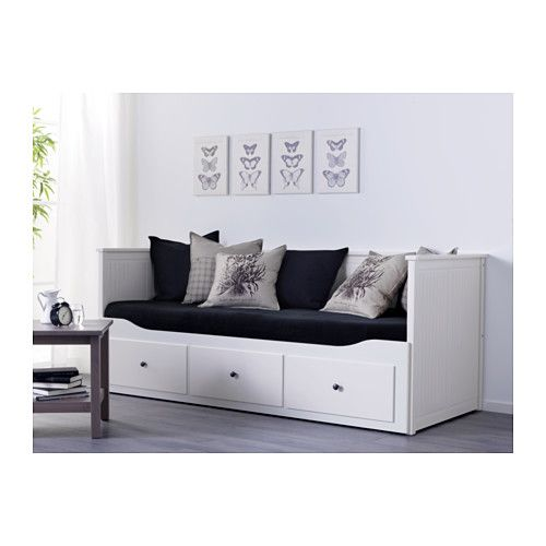 hemnes daybed frame with 3 drawers white instructions