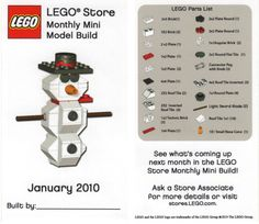 lego snowman instructions 2014