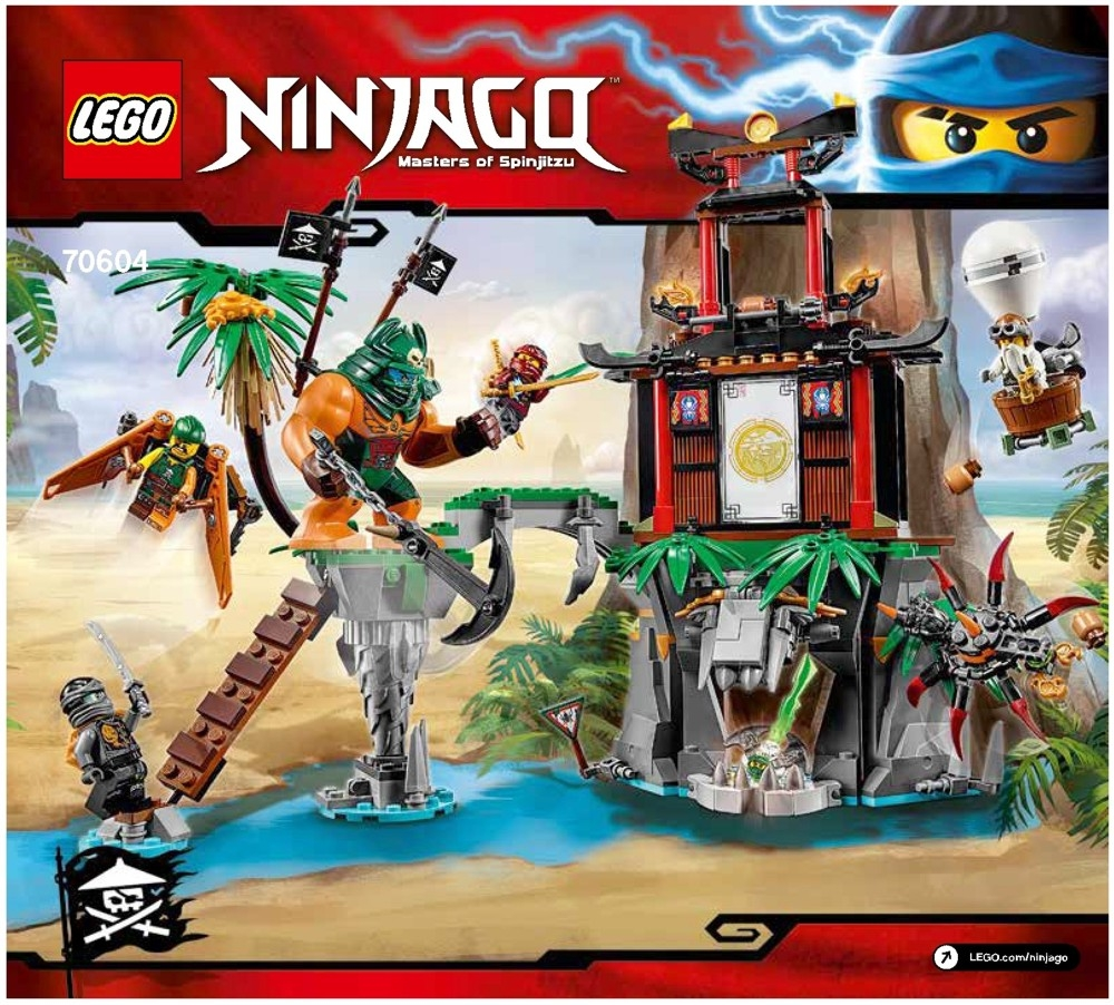 lego tiger widow island instructions