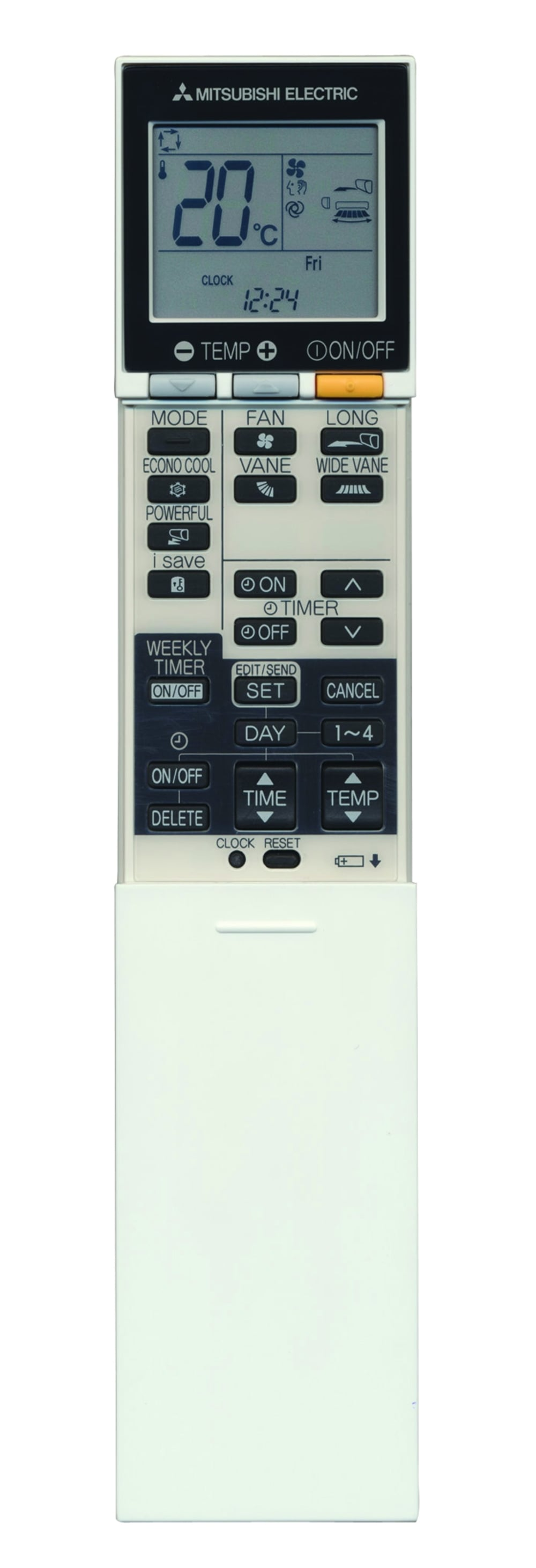 mitsubishi inverter remote instructions