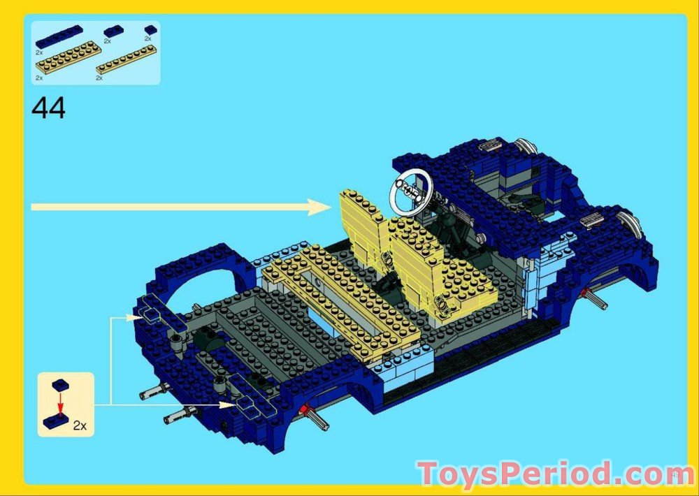 lego volkswagen beetle instructions 10252