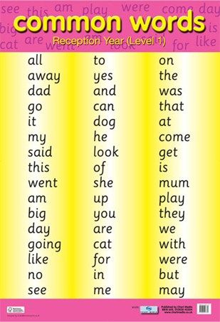 instructional words for kids