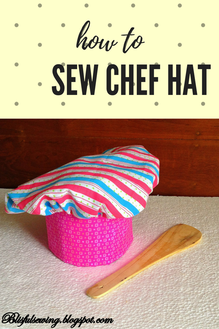 instruction for msaking childs chefs hat