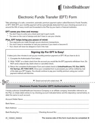 electronic funds transfer instruction