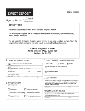 standard form 1199a instructions