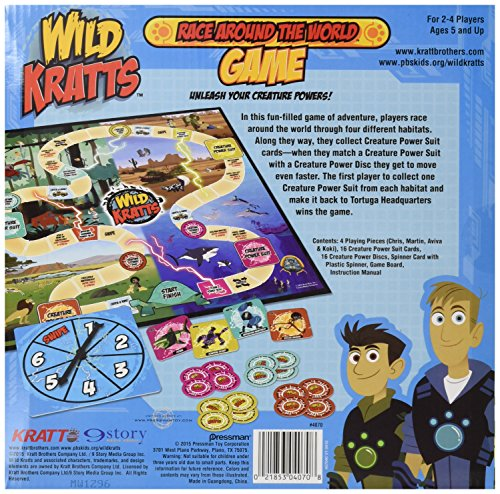 wild kratts race around the world game instructions