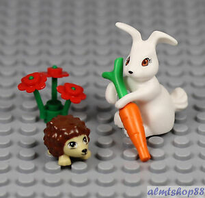 lego rabbit with carrot instructions