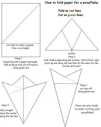 how to make paper snowflakes easy instruction
