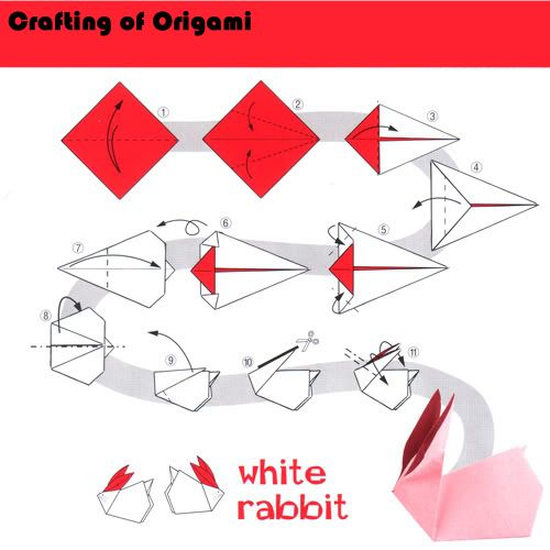 money origami rabbit instructions