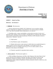 dod instruction 1342.19 family care plans