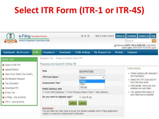 income tax return filing instructions