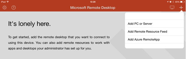remote desktop for ipad instructions