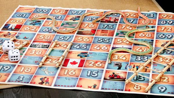 instructions for snakes and ladders board game