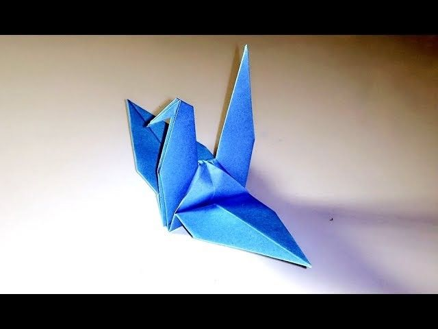 paper crane instructions youtube