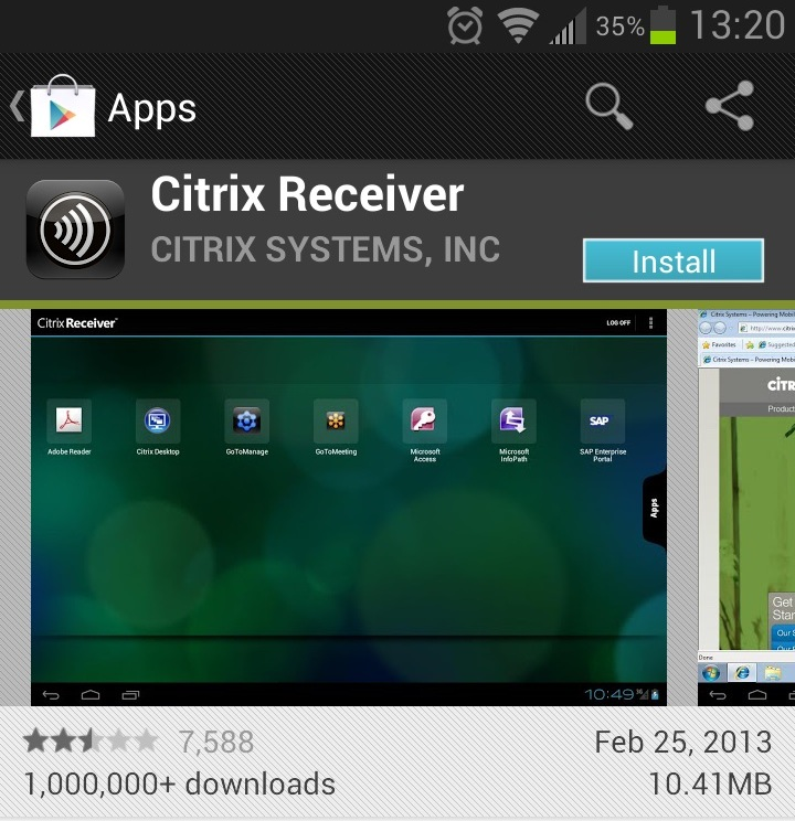 citrix receiver instructions android