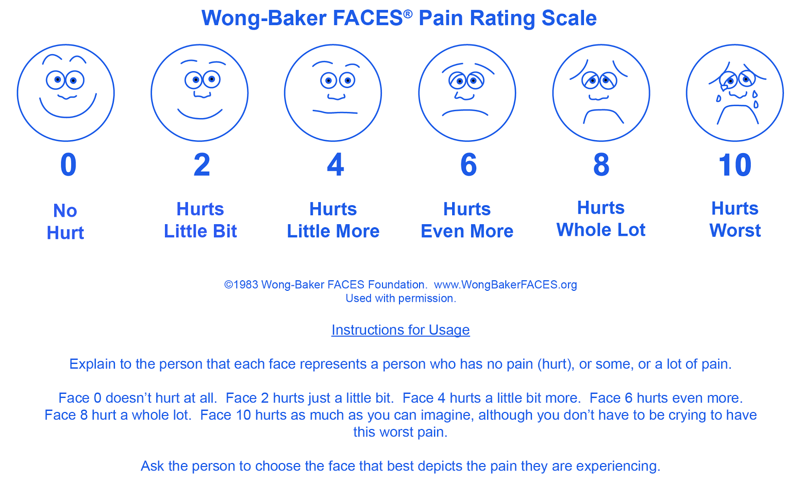 abbey pain scale instructions