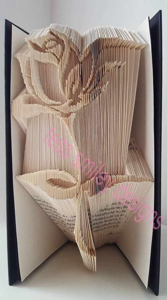 book page folding art instructions letters