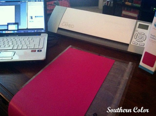 silhouette cameo heat transfer vinyl instructions
