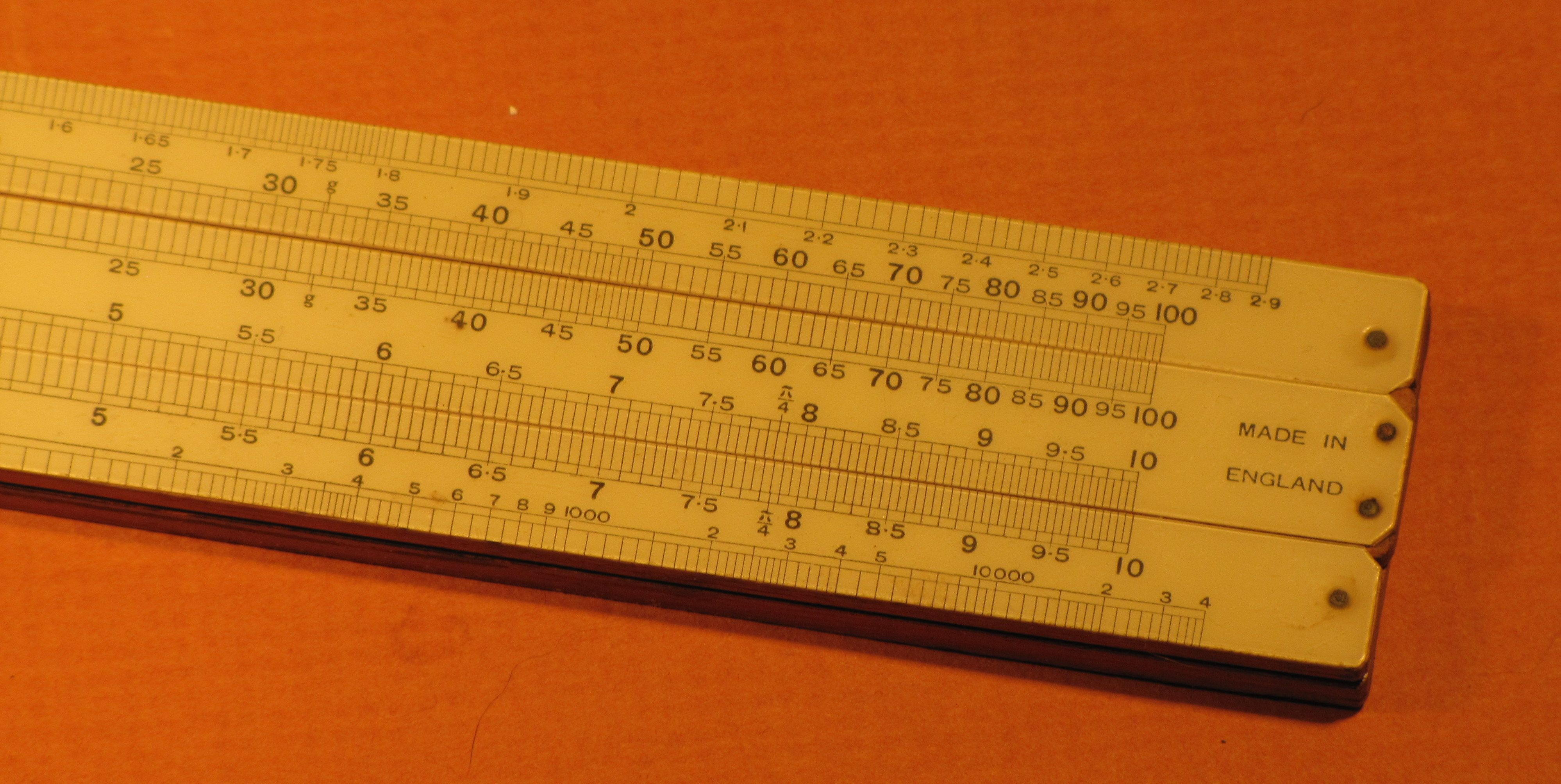 fuller calculator slide rule with instructions