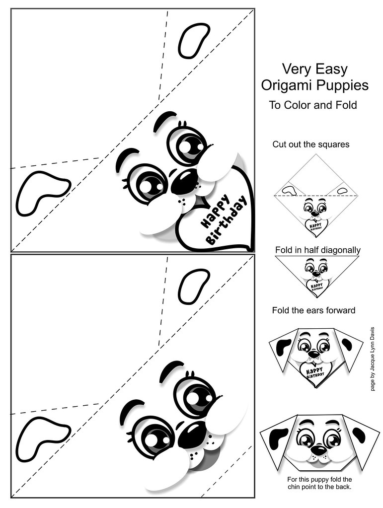 3d origami puppy instructions