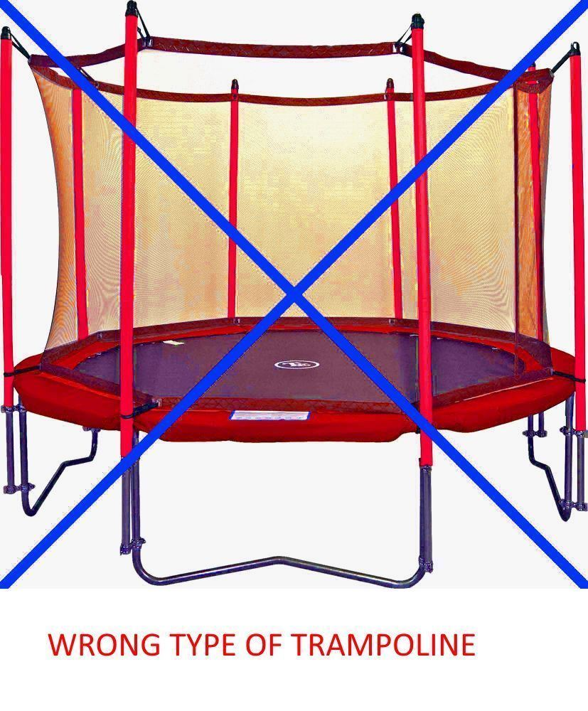 trampoline instructions safety net