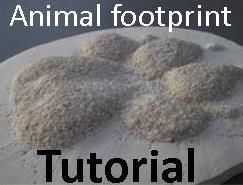 plaster of paris instructions footprints