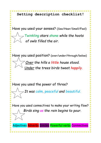 writing instructions template ks1