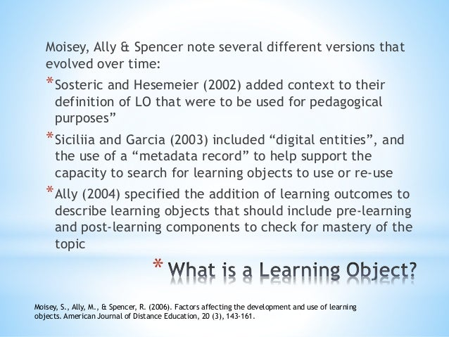 david wiley the instructional use of learning objects