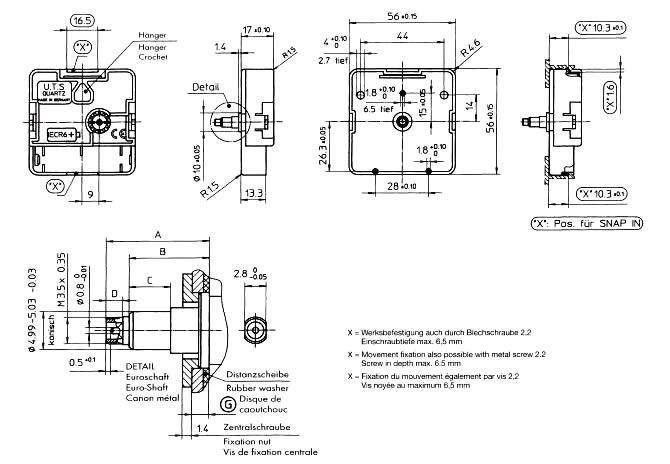 hermle battery operated movement instructions
