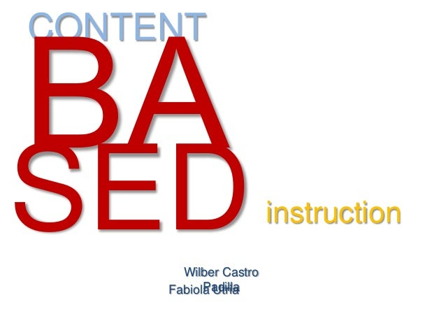 content based instruction slideshare