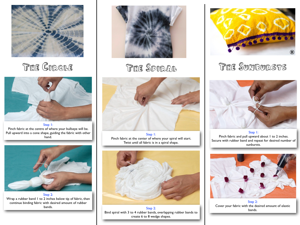 how to do tie dye instructions