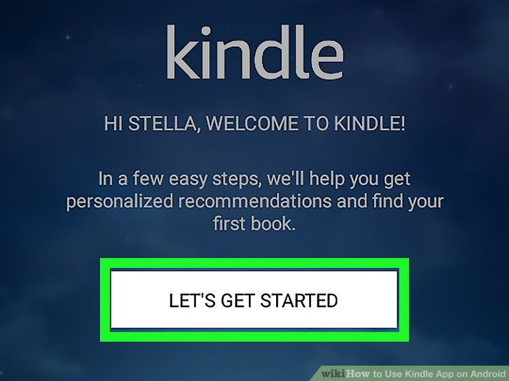 amazon kindle app for android instructions