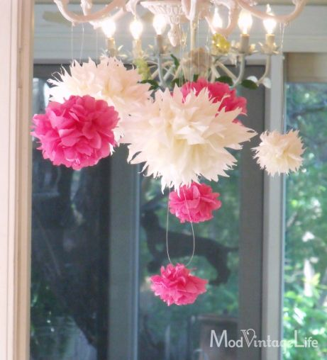 free instructions on how to make tissue paper flowers