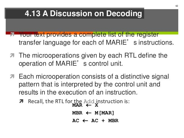 rtl list for marie instructions