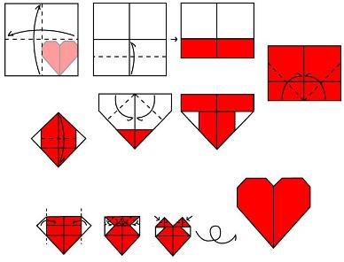 origami heart with wings printable instructions