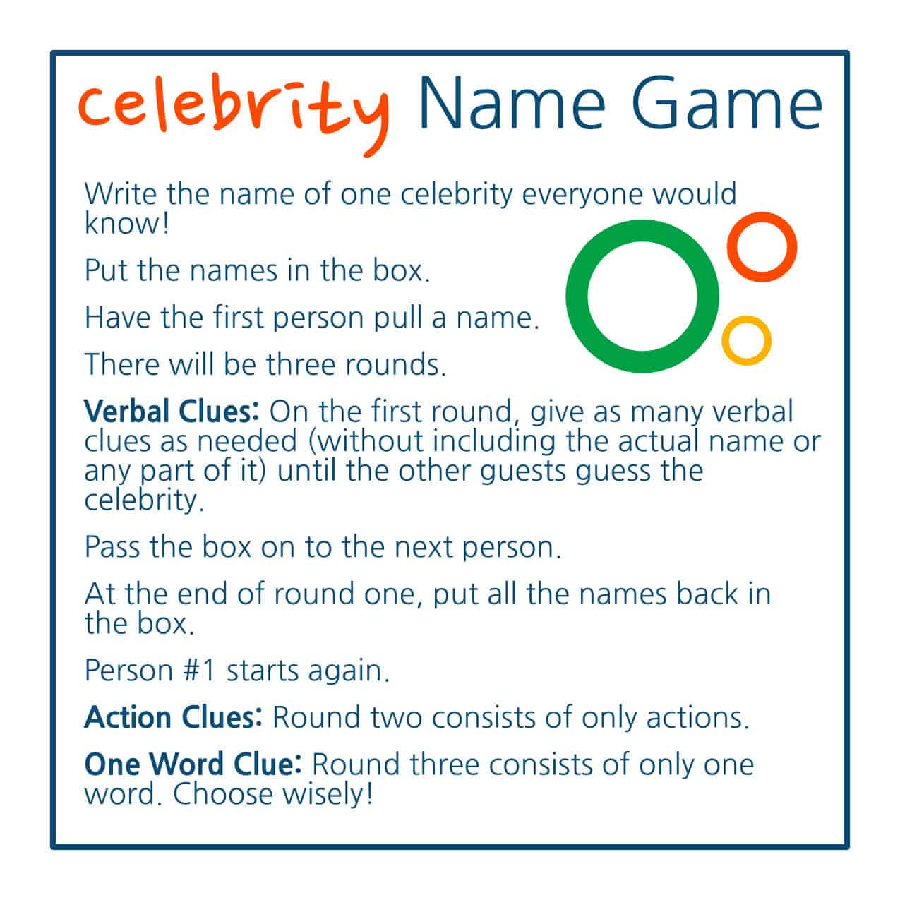 celebrity heads game instructions