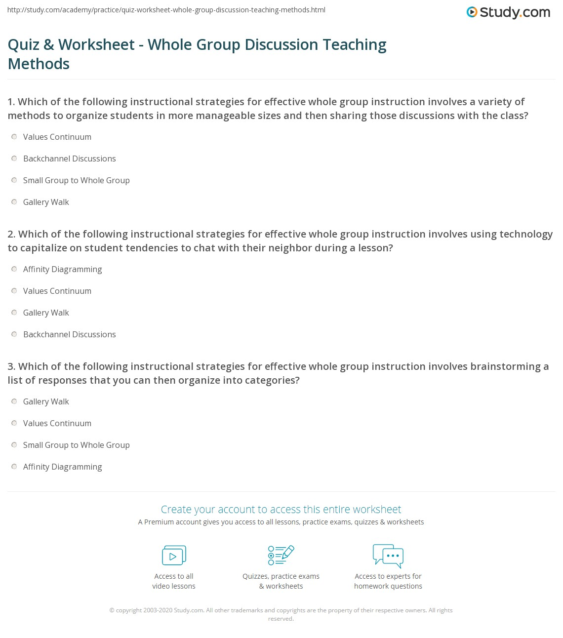 instructional teaching methods and strategies