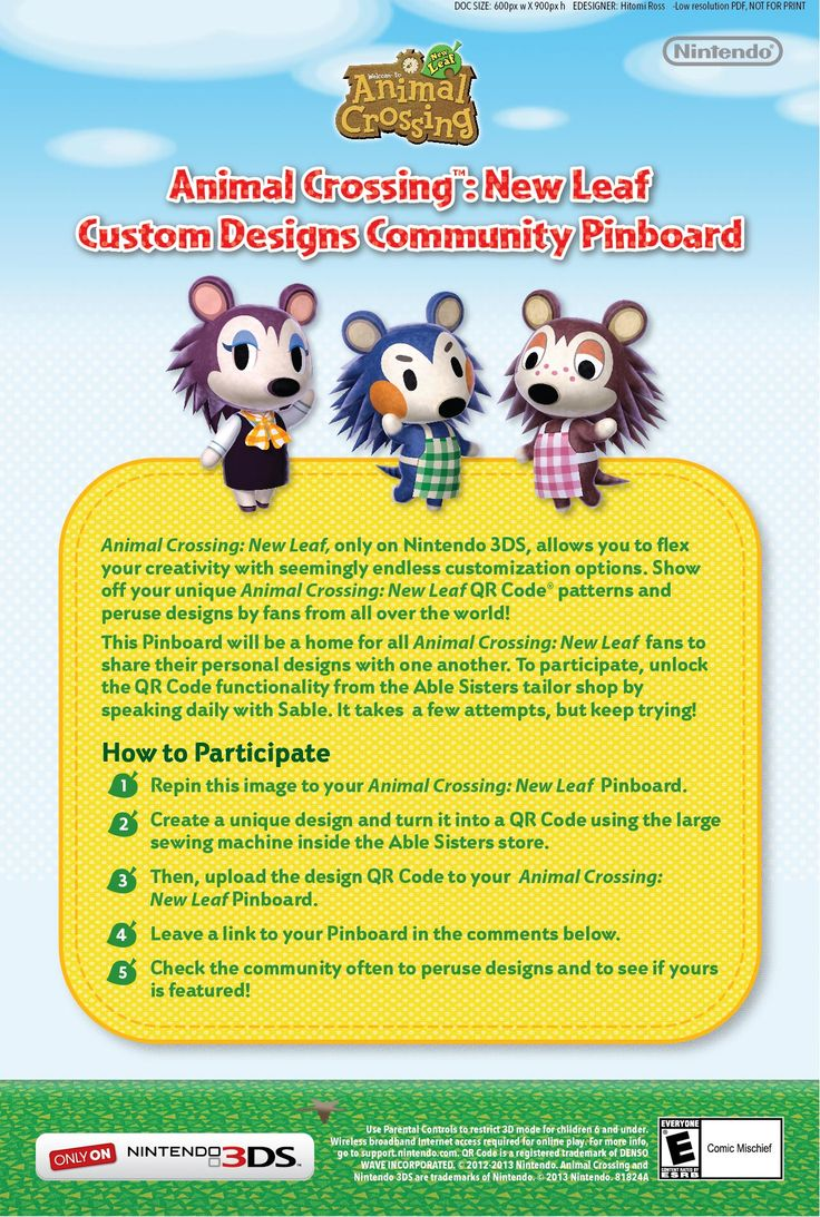 animal crossing 3ds instructions