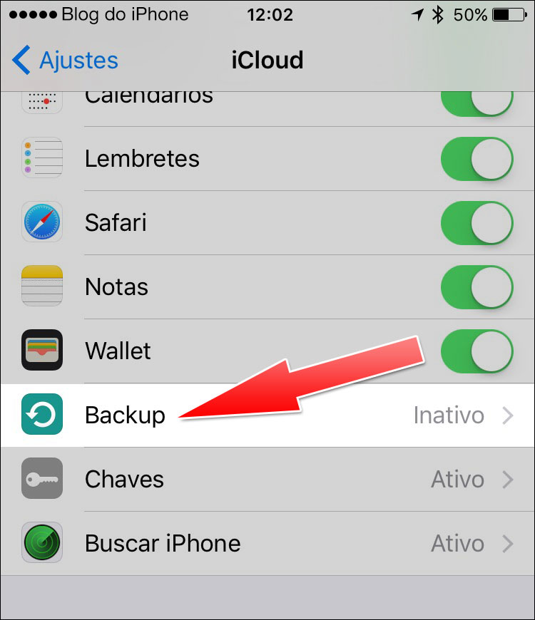 instructions how to do icloud back up