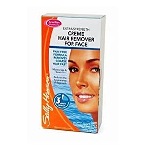 instructions for sally hansen creme hair remover for face