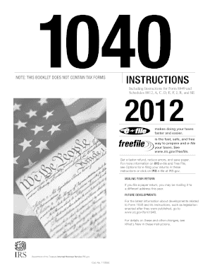 2012 schedule a instructions