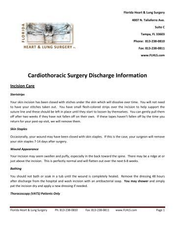 post surgery discharge instructions